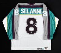 Teemu Selanne Signed Ducks Jersey (Beckett COA) at PristineAuction.com