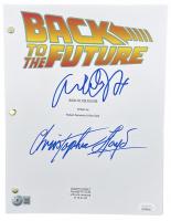 "Christopher Lloyd & Michael J. Fox Signed ""Back to the Future"" Movie Script (Beckett COA & JSA COA) at PristineAuction.com"
