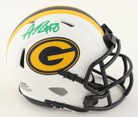 Amari Rodgers Signed Packers Lunar Eclipse Alternate Speed Mini Helmet (JSA COA) at PristineAuction.com