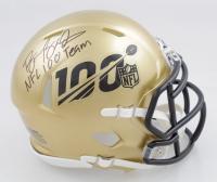 "Barry Sanders Signed NFL 100th Season Speed Mini Helmet Inscribed ""NFL 100 Team"" (Schwartz Sports COA) at PristineAuction.com"