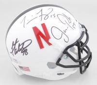 Grant Wistrom, Jason Peter & Tommie Frazier Signed Nebraska Cornhuskers Mini Helmet (PSA COA) at PristineAuction.com