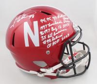 Grant Wistrom Signed Nebraska Cornhuskers Full-Size Flash Alternate Speed Helmet with Extensive Inscription (JSA COA) at PristineAuction.com