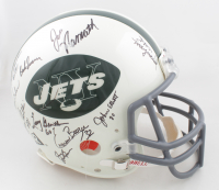 1969 Jets Full-Size Authentic On-Field Helmet Team-Signed by (25) with Joe Namath, Don Maynard, Bill Mathis, John Elliot, Emerson Boozer (Steiner COA) at PristineAuction.com