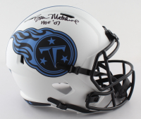 "Bruce Matthews Signed Titans Lunar Eclipse Alternate Speed Full-Size Helmet Inscribed ""HOF 07"" (Beckett Hologram) at PristineAuction.com"