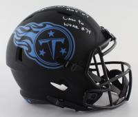 "Bruce Matthews Signed Titans Eclipse Alternate Speed Full-Size Helmet Inscribed ""HOF 07"" & ""Last To Wear #74"" (Beckett Hologram) at PristineAuction.com"