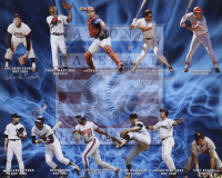 National Baseball Hall of Fame 16x20 Photo Signed by (5) With Orlando Cepeda, Roberto Alomar, Rod Carew, Vladimir Guerrero (MAB Hologram) at PristineAuction.com