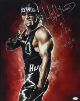 Hulk Hogan Signed 16x20 Photo with Inscription (JSA COA) at PristineAuction.com