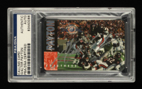 Walter Payton Signed Bears 1995 Super Bowl XX Champions 10th Anniversary Calling Card #/25,000 (PSA Encapsulated) at PristineAuction.com