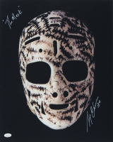 """Gerry Cheevers Signed 16x20 Photo Inscribed """"The Mask"""" (JSA COA) at PristineAuction.com"""