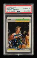 Larry Bird Signed 1987-88 Fleer #11 (PSA Encapsulated) at PristineAuction.com