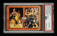 Larry Bird Signed 1993-94 Hoops #MB1 Magic Johnson / Larry Bird / Commemorative (PSA Encapsulated) at PristineAuction.com