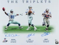 """Troy Aikman, Emmitt Smith & Michael Irvin Signed Cowboys """"The Triplets"""" 16x20 Photo (Beckett COA) at PristineAuction.com"""