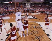 "Jahlil Okafor Signed Duke Blue Devils 16x20 Photo Inscribed ""2015 Champs"" (Schwartz Sports COA) at PristineAuction.com"