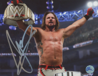 AJ Styles Signed 8x10 Photo (Pro Player Hologram) at PristineAuction.com