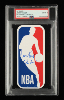 """Jerry West Signed NBA Sticker Inscribed """"The Logo"""" (PSA Encapsulated) at PristineAuction.com"""