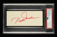 Rod Carew Signed 3x5 Cut (PSA Encapsulated) at PristineAuction.com