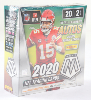 2020 Panini Mosaic Football Mega Box with (40) Cards at PristineAuction.com