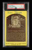 Willie Stargell Signed Gold Hall of Fame Plaque Postcard (PSA Encapsulated) at PristineAuction.com