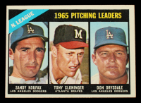 Sandy Koufax / Tony Cloninger / Don Drsydale 1966 Topps #223 NL Pitching Leaders at PristineAuction.com