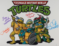 """""""Teenage Mutant Ninja Turtles"""" 16x20 Photo Signed by (4)  Cam Clarke, Rob Paulsen, Barry Gordon & Townsend Coleman with (4) Inscriptions (JSA Hologram) at PristineAuction.com"""