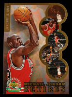 Michael Jordan LE 1999 Upper Deck Michael Jordan Retires Jumbo Card at PristineAuction.com