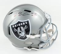 Maxx Crosby Signed Raiders Full-Size Flash Alternate Speed Helmet (Beckett Hologram) at PristineAuction.com