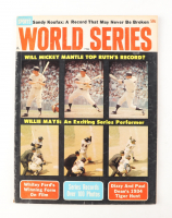 1964 World Series Magazine with Mickey Mantle & Willie Mays at PristineAuction.com