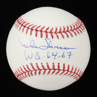 """Mike Shannon Signed OML Baseball Inscribed """"W.S. 6467"""" (JSA COA) at PristineAuction.com"""