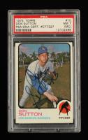 Don Sutton Signed 1973 Topps #10 (PSA Encapsulated - PSA 7) (MC) at PristineAuction.com