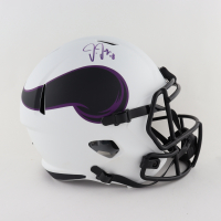 Justin Jefferson Signed Vikings Full-Size Lunar Eclipse Alternate Speed Helmet (Beckett COA) at PristineAuction.com