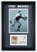 Yogi Berra Signed Yankees 14.5x20.5 Custom Framed FDC Display (Beckett LOA) (See Description) at PristineAuction.com