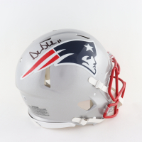 Drew Bledsoe Signed Patriots Full-Size Authentic On-Field Speed Helmet (Beckett Hologram) at PristineAuction.com