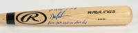 """Dwight Gooden Signed Rawlings Pro Baseball Bat Inscribed """"No Hitter 5-14-96"""" & """"Bats Don't Work On That Day"""" (PSA COA) at PristineAuction.com"""
