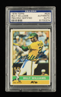 Billy Williams Signed 1976 Topps #525 (PSA Encapsulated) at PristineAuction.com