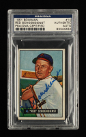 Red Schoendienst Signed 1964 Topps #175 (PSA Encapsulated) at PristineAuction.com