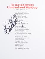 "Bill Medley Signed ""Unchained Melody"" 8.5x11 Song Lyrics Sheet (ACOA COA) at PristineAuction.com"