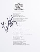 "Bill Medley Signed ""Soul & Inspiration"" 8.5x11 Song Lyrics Sheet (ACOA COA) at PristineAuction.com"