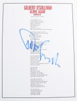"Gilbert O'Sullivan Signed ""Alone Again (Naturally)"" 8.5x11 Song Lyrics Sheet (ACOA COA) at PristineAuction.com"