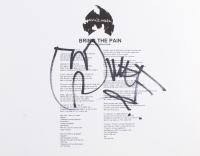 """Method Man Signed """"Bring The Pain"""" 8.5x11 Song Lyrics Sheet with Hand Drawn Sketch (ACOA COA) at PristineAuction.com"""