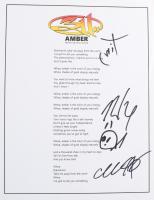 "311 ""Amber"" 8.5x11 Lyric Sheet Signed by Tim Mahoney, Nick Hexum, Chad Sexton & Doug ""SA"" Martinez (ACOA COA) at PristineAuction.com"