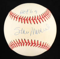 """Stan Musial Signed ONL Baseball Inscribed """"HOF 69"""" (PSA COA) at PristineAuction.com"""