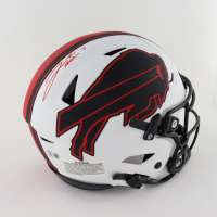 Josh Allen Signed Bills Full-Size Authentic On-Field Lunar Eclipse Alternate Speedflex Helmet (Beckett Hologram) (See Description) at PristineAuction.com