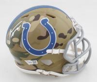 Jonathan Taylor Signed Colts Camo Alternate Speed Mini Helmet (Fanatics Hologram) at PristineAuction.com