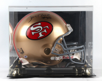 Jerry Rice Signed 49ers Full-Size Authentic On-Field Helmet with Display Case (PSA COA & Rice Hologram) at PristineAuction.com