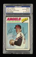 Nolan Ryan Signed 1977 Topps #650 (PSA Encapsulated) at PristineAuction.com