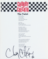 """Chubby Checker Signed """"The Twist"""" 8.5x11 Song Lyrics Sheet (ACOA Hologram) at PristineAuction.com"""