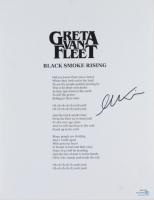 "Greta Van Fleet Signed ""Black Smoke Rising"" 8.5x11 Song Lyrics Sheet (ACOA Hologram) at PristineAuction.com"