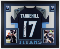 Ryan Tannehill Signed 35x43 Custom Framed Jersey Display (Beckett Hologram) at PristineAuction.com