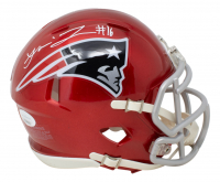 Jakobi Meyers Signed Patriots Flash Alternate Speed Mini Helmet (JSA COA) at PristineAuction.com