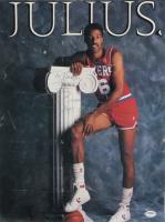 "Julius Erving Signed 76ers 14x18 Print Inscribed ""From"" & ""April 19, 1987"" (PSA COA) (See Description) at PristineAuction.com"